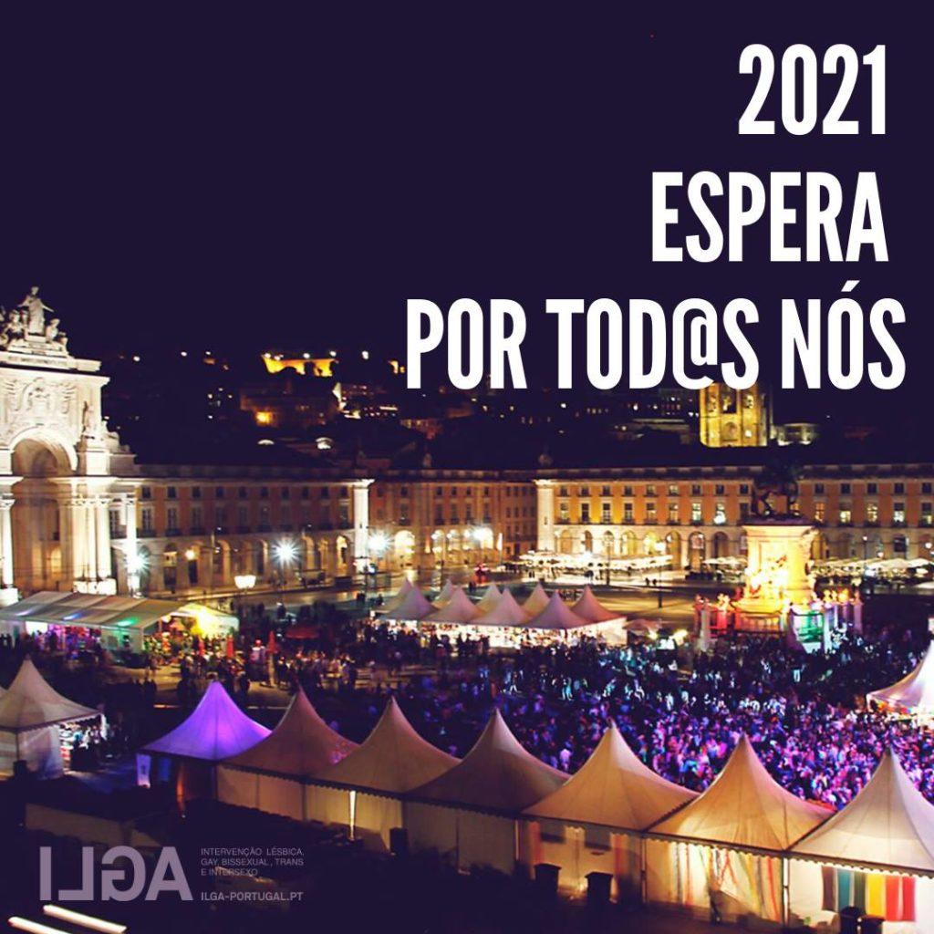 Fotografia do Arraial Lisboa Pride no Terreiro do Paço, em Lisboa2021 espera por nós
