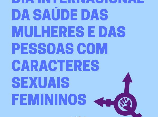 imagem de celebracçao de dia internacional da saude das mulheres e pessoas com caracteres sexuais femininos