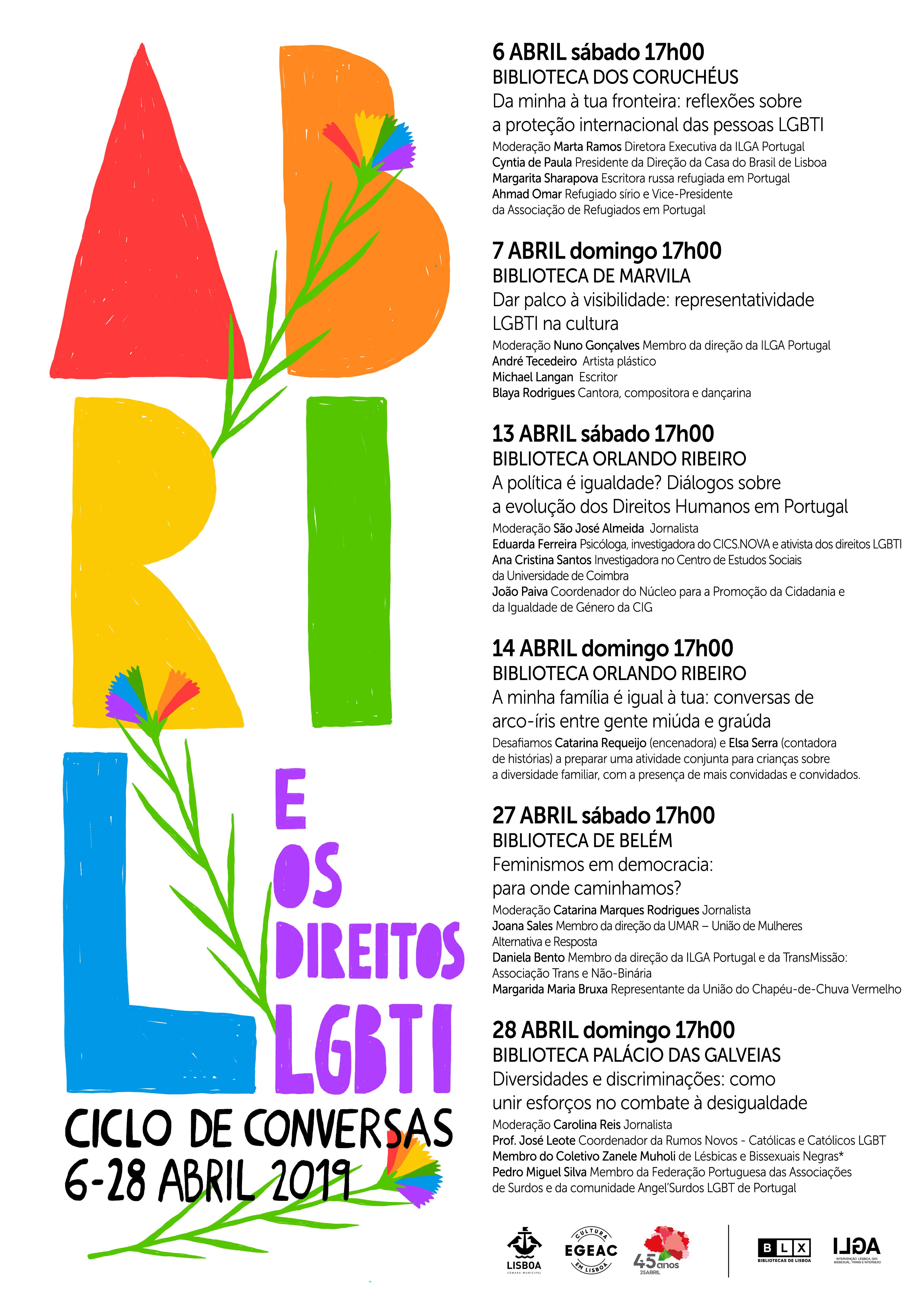 adad5eb54fed No ano em que se celebra os 45 anos do 25 de Abril, a Associação ILGA  Portugal – Intervenção Lésbica, Gay, Bissexual, Trans e Intersexo – propõe  em conjunto ...